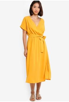 5a208adebcbb 10% OFF Something Borrowed Cuffed Sleeves Waist Tie Midi Dress RM 119.00  NOW RM 106.90 Sizes XS S M L XL