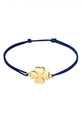 Elli Germany blue Perhiasan Wanita Perak Asli - Silver Gelang Nylon Clover Lapis Emas FCAE8AC3BCA4BFGS_1