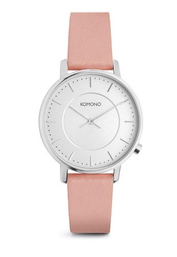 KOMONO pink Harlow Pastel Misty Rose Watch KO163AC0T0UGMY_1