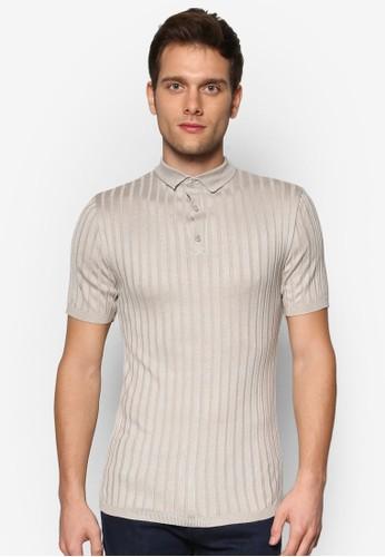 Clarke 直條紋短袖 POLO 衫, 服飾zalora 台灣門市, 服飾