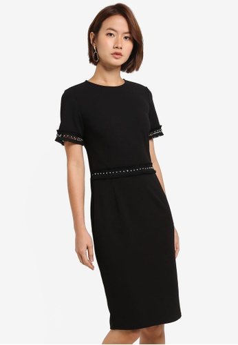 Shop For Sale Discount Free Shipping Dorothy Perkins Womens Stud Trim Pencil Dress Free Shipping Excellent Outlet Enjoy kZanyFK