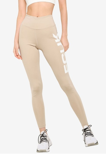French Connection beige FCUK Core Jersey Logo Leggings 77F9BAA1FFBEC4GS_1
