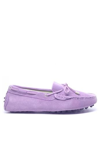 Twenty Eight Shoes 紫色 女裝真猄皮豆豆鞋M99 8CB67SHCFFC22FGS_1