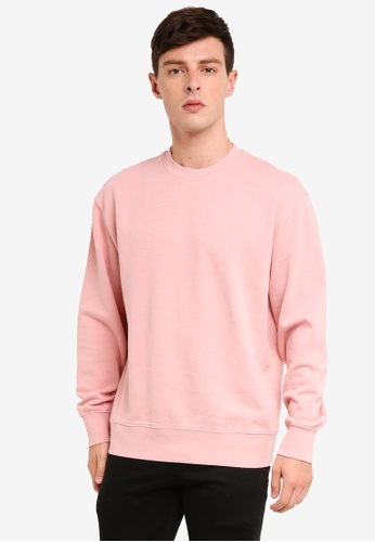 Topman 粉紅色 經典棉T 18611AA28DB58FGS_1