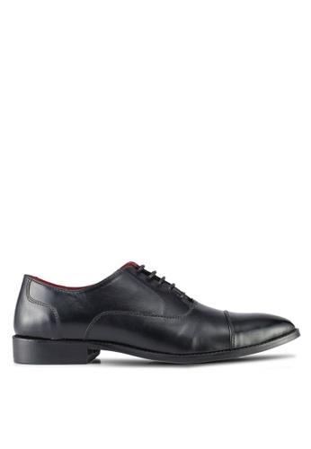 Acuto black Leather Dress Shoes AC283SH0SL5ZMY_1