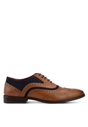 Acuto brown Leather Dress Shoes AC283SH0SL5GMY_1