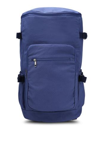 JAXON navy Urban Canvas Backpack 4E598AC1B3771BGS_1