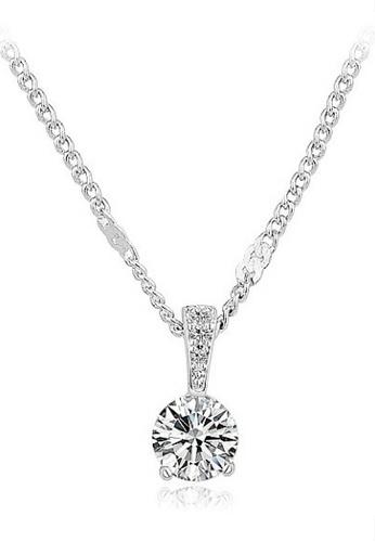 Vivere Rosse silver Galaxy Solitaire Pendant Necklace VI014AC49SLUMY_1