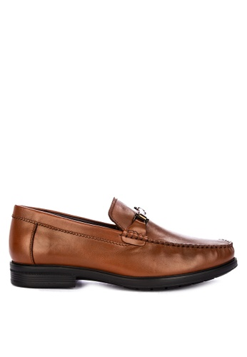 Sledgers brown L.A. Horsebit Loafer E8B10SH6604EB5GS_1