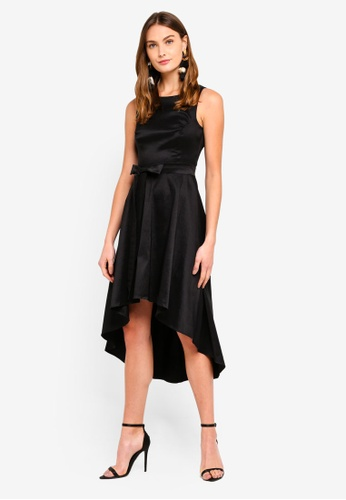 Goddiva 黑色 無袖綁帶洋裝 5B738AA506085FGS_1