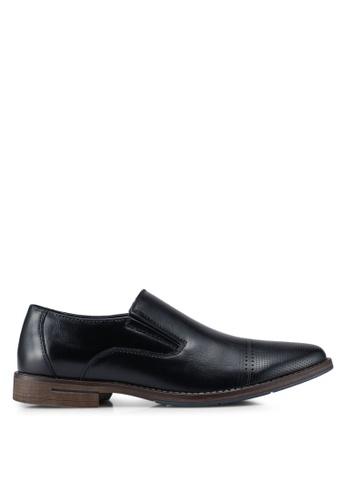 Bata black Classic Derby Shoes 5747ESH202EE00GS_1