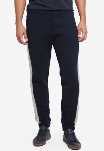 Jack Wills navy Brougham Pique Joggers 8F76AAA2A8B73CGS_1