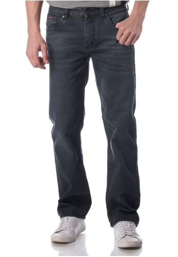 POLO HAUS grey Polo Haus - Straight Cut Jeans (Grey) PO783AA79JOAMY_1