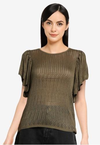 JACQUELINE DE YONG green Solis Knit Top 9E333AAF549A9DGS_1