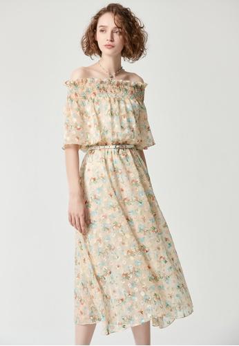 iROO multi Printed Dress D62B4AA826F4C3GS_1
