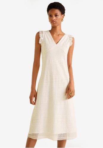 cdd7fb133e Buy Mango Guipure Midi Dress | ZALORA HK
