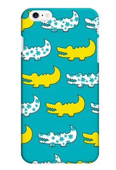 Gator Yellow and Blue Hard Case for iPhone 6 plus