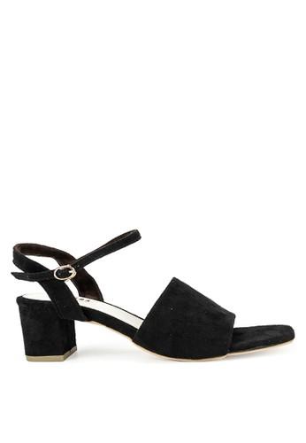 Amazara black Alona Suede Heels 8310ASH963A912GS_1