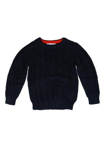 GLOBAL WORK blue Knit Sweater 9E004KA0B267EEGS_1