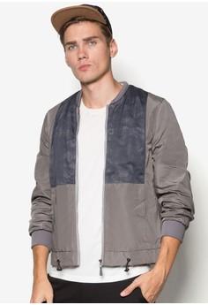Mesh Panel Drawstring Jacket