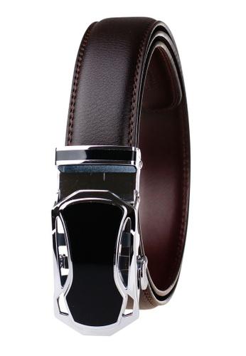 FANYU orange Leather Dress Belt With Automatic Buckle B2740AC9EB3141GS_1