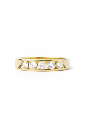 CEBUANA LHUILLIER JEWELRY gold 18K Karat Yellow Gold Lady Ring with Diamonds E1604AC4F48909GS_1