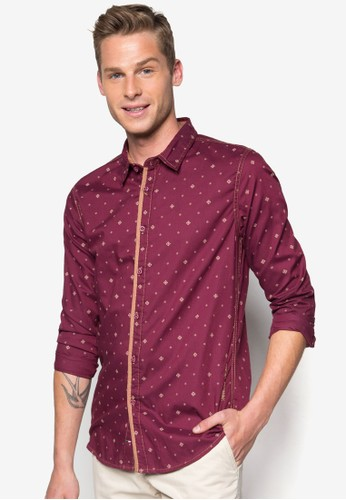 印花長袖襯衫, esprit 香港 outlet服飾, 印花襯衫