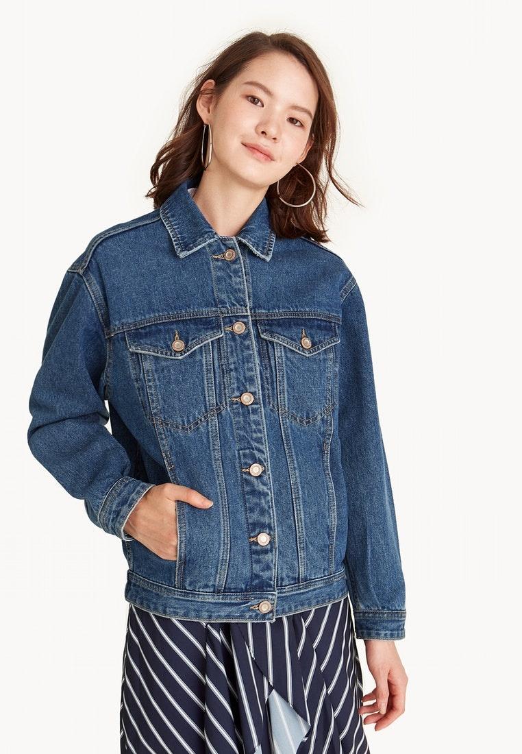 Mid Denim Pomelo Jacket Oversized Blue Wash TPtxUvUqw