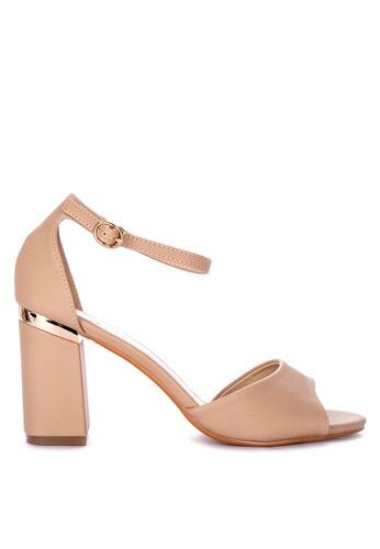 fb48eec8c45d Shop Matthews Shy Heeled Sandals Online on ZALORA Philippines