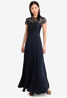 d3516b0f5147 Forever New navy Shanae Lace Top Maxi Dress C0A1CAA43E1D16GS 1