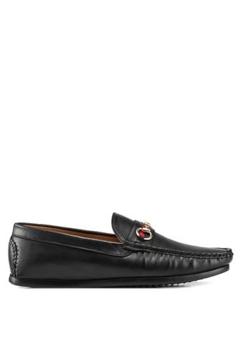 Carlton London black Slip On Loafers ADB3ASH2D1667AGS_1