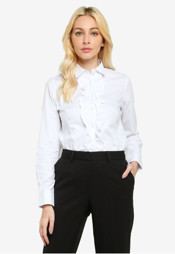 Sacoor Brothers white Women's Classic Slim Fit Shirt 191E9AA9D470DDGS_1