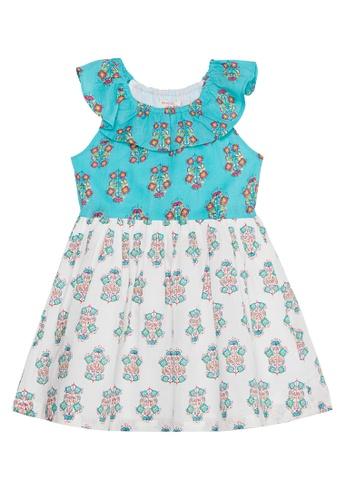Du Pareil Au Même (DPAM) blue Print Dress D27A0KA3B6961AGS_1
