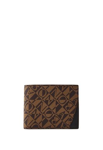 BONIA black Black Terasso Monogram Centre Flap Cards Wallet 46E82AC7818C5FGS_1