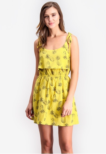 Shop BENCH Shoulder Tie Sleeveless Short Dress Online on ZALORA Philippines 57128fa88