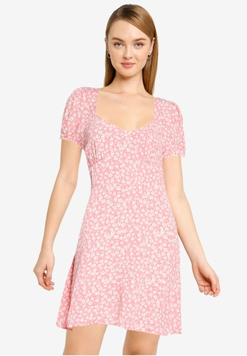 Cotton On pink Woven Essential Tie Back Mini Tea Dress B407BAAB0A0FEAGS_1
