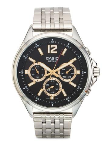 Casio silver Casio Enticer Analog Black Dial Men's Watch - MTP-E303D-1AVDF CA843AC53YTQMY_1