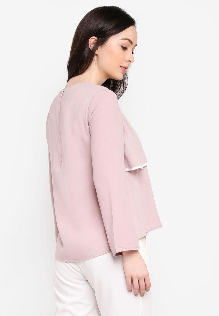 Layered Dusty Zalia Top Trim Pink Contrast 7wxWx8F01f
