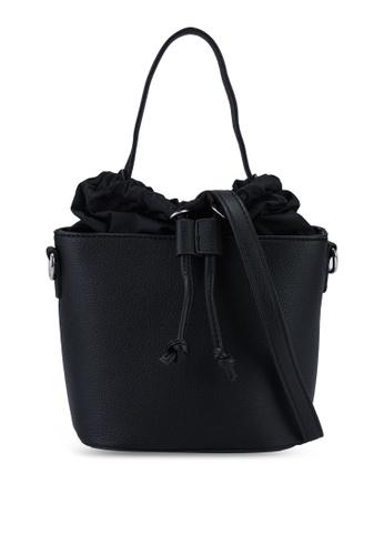 Red's Revenge black Zoey Drawstring Bucket Sling Bag 2AE80ACF323071GS_1