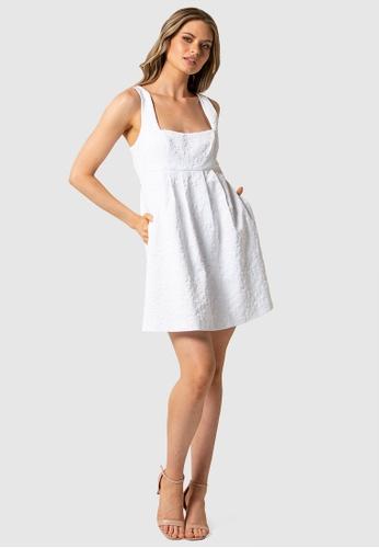 Forever New white Charlie Babydoll Mini Dress 4D578AA92C87EBGS_1