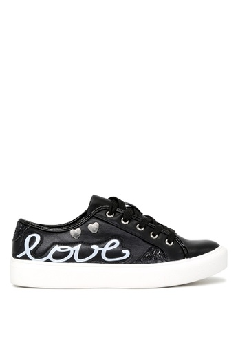 London Rag black LOVE Lace-up Sneakers SH1662 F55C4SH3F1A99AGS_1