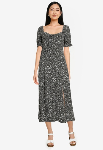 Forever New multi Mariah Lace Up Midi Dress 548EEAAB7354A9GS_1