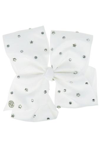 Jojo Siwa Jojo Siwa Bow With Clip (White Star Rhinestone) DB687KCA52CAFBGS_1