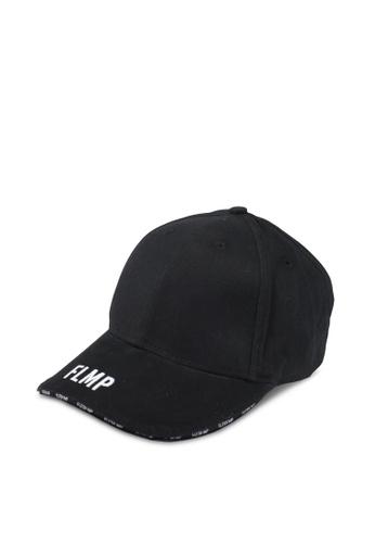Flesh IMP black Emblem Paneled Strapback Cap FL064AC0SJO6MY_1