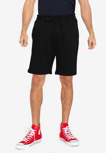 Jack & Jones black Stone Cargo Sweat Shorts 9EA09AA130D387GS_1