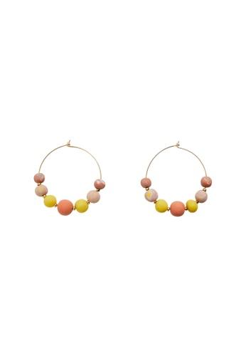 Mango gold Ceramic Earrings D0C29AC31C6981GS_1