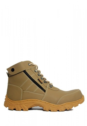 Cut Engineer grey Cut Engineer Zipper Combo Safety Boots Iron Leather Grey 181B8SH7F52499GS_1