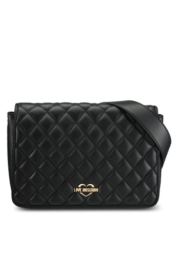Love Moschino black Borsa Quilted Nappa Shoulder Bag LO478AC0SEIBMY_1