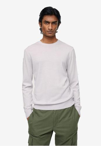 MANGO Man white 100% Merino Wool Washable Sweater C4945AAB58B50EGS_1