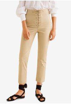 3103363046 Mango beige Soft Cord Trousers 5AEB3AA44E381BGS 1
